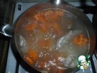 Куриный бульон с омлетными блинчиками ингредиенты
