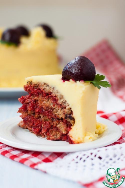 Мясной закусочный торт