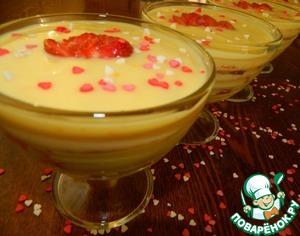 Рецепт Апельсиновый десерт с клубникой