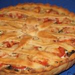 Картофельный пирог с грибами и помидорами