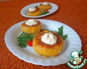 Рецепт Морковно-нутовые котлеты с творожно-сливочной начинкой