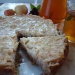 Яблочный пирог на овсяном корже