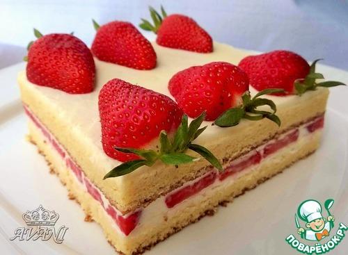 Японский клубничный тортик