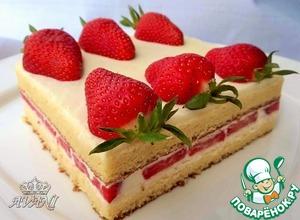 Рецепт Японский клубничный тортик