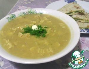Рецепт Вегетарианский гороховый крем-суп со спаржей
