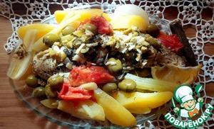 Рецепт Щука с овощами