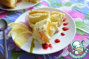 Рецепт Сладкий киш с творожным суфле и персиками в мультиварке