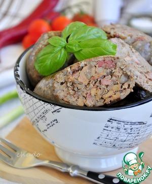 Рецепт: Печеночная колбаса с гречкой в мультиварке