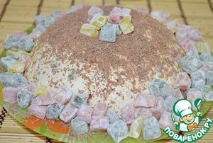 Рецепт Молочное желе с ягодами и печеньем