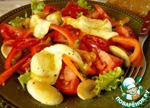 Как приготовить Салат из сулугуни с овощами домашний пошаговый рецепт приготовления с фото