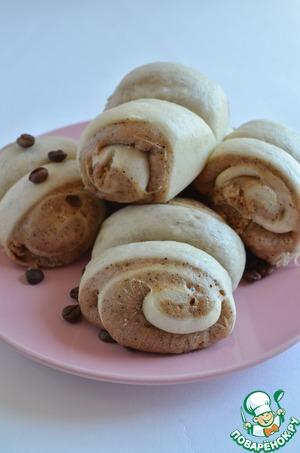 Рецепт Паровые молочно-кофейные булочки
