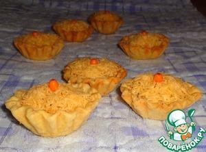 Рецепт Творожно-облепиховые тарталетки с куриной печенью