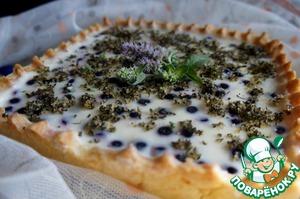 Рецепт Чернично-лимонный пирог с мятно-сахарной крошкой