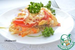 """Рецепт """"Пицца"""" с мясным фаршем на картофеле в мультиварке"""
