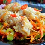 Шашлычки из рыбы с овощами