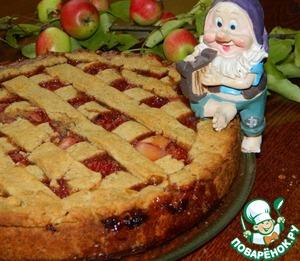 Рецепт Пирог с яблоками и клубникой