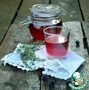 Рецепт Морс из черной смородины с медом и тимьяном