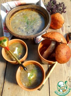 Рецепт Грибной суп с овсянкой