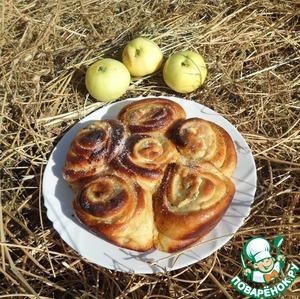 Рецепт Пирог с творожными розами
