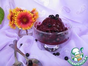 Рецепт Сорбет из черной смородины