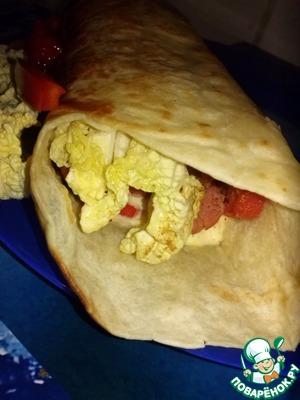 Рецепт Завтрак в тортилье