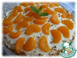 Рецепт Мандариновый торт с пралине (Mandarinentorte mit Krokant)