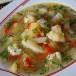 Пряный овощной суп с сырными ньоками