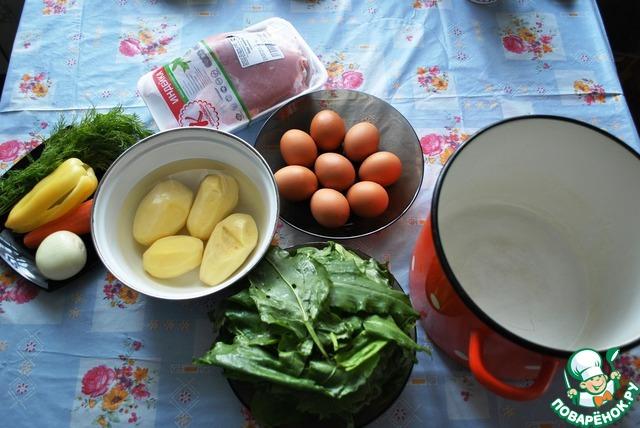 Щавелевый суп индейка