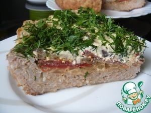 Рецепт Мясная запеканка с баклажанами и помидорами (в мультиварке)