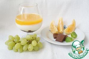 Рецепт Панна котта с апельсиновым желе и шоколадом