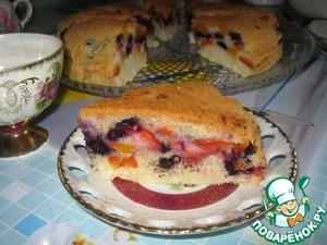 Рецепт Фруктово-ягодный пирог в мультиварке