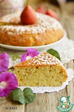 Рецепт Пирог грушево-имбирный