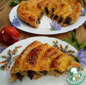 Рецепт Грибной пирог-спираль
