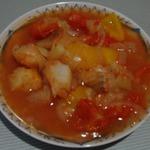 Гуляш из рыбы в томатном соусе