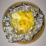 Курочка, запеченная с овощами, в фольге
