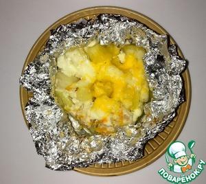 Рецепт Курочка, запеченная с овощами, в фольге