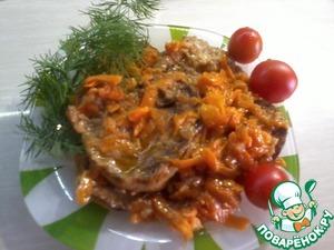 Рецепт Жаренные кабачки с овощами