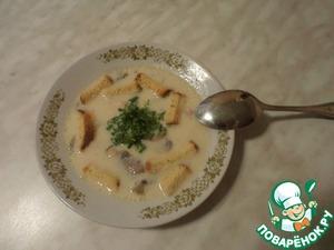 Рецепт Сырно-сливочный суп с шампиньонами