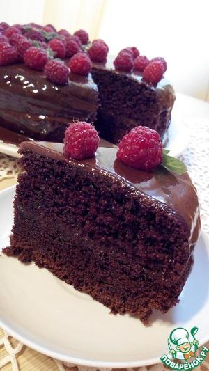 Рецепт: Шоколадный торт на раз-два-три