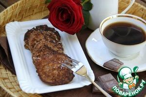 Рецепт Шоколадные оладьи из злаковых хлопьев и цуккини