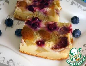 Рецепт А-ля клафути с грушами и нектаринами