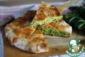 Рецепт Быстрый слоеный сырный пирог
