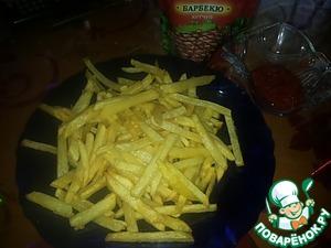 Рецепт Картошка жареная (между картошкой фри и пай)