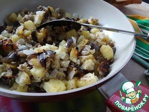 Рецепт Баклажаны с картофелем по-деревенски