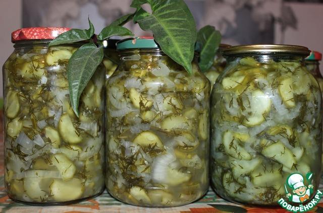Салат из огурцов Зимний — рецепт заготовки