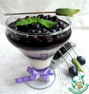 Рецепт Рисово-кокосовая каша-пудинг с черникой