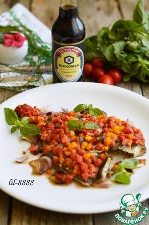 Рецепт Камбала с помидорами