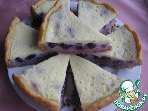 Рецепт Заливной пирог с виноградом в мультиварке