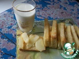Тосты запечёные с яблоком домашний рецепт с фото пошагово