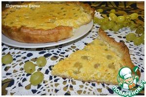Рецепт Пирог творожно-тыквенный с виноградом